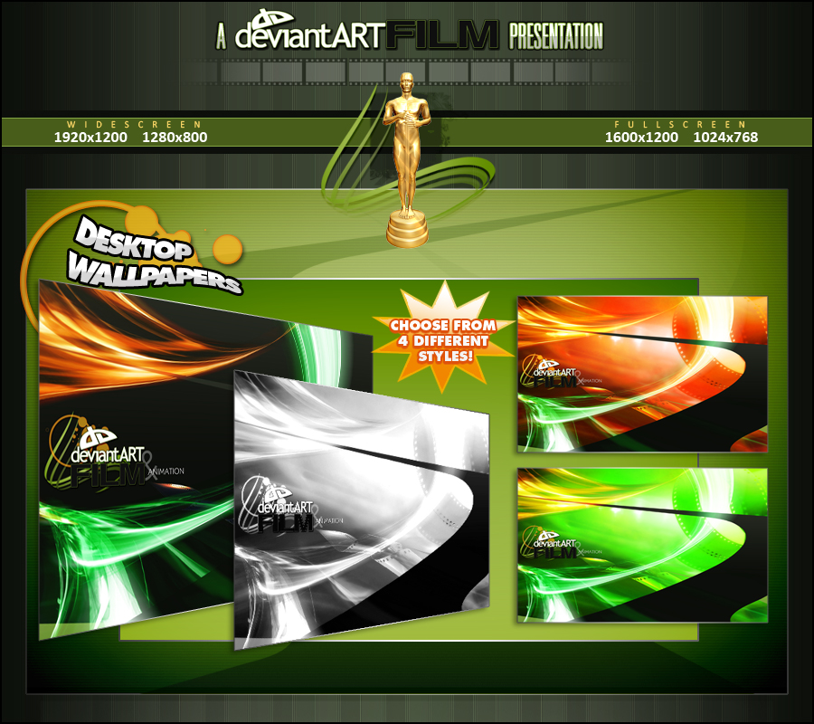 deviantARTFilm Wallpaper Pack by JesseLax