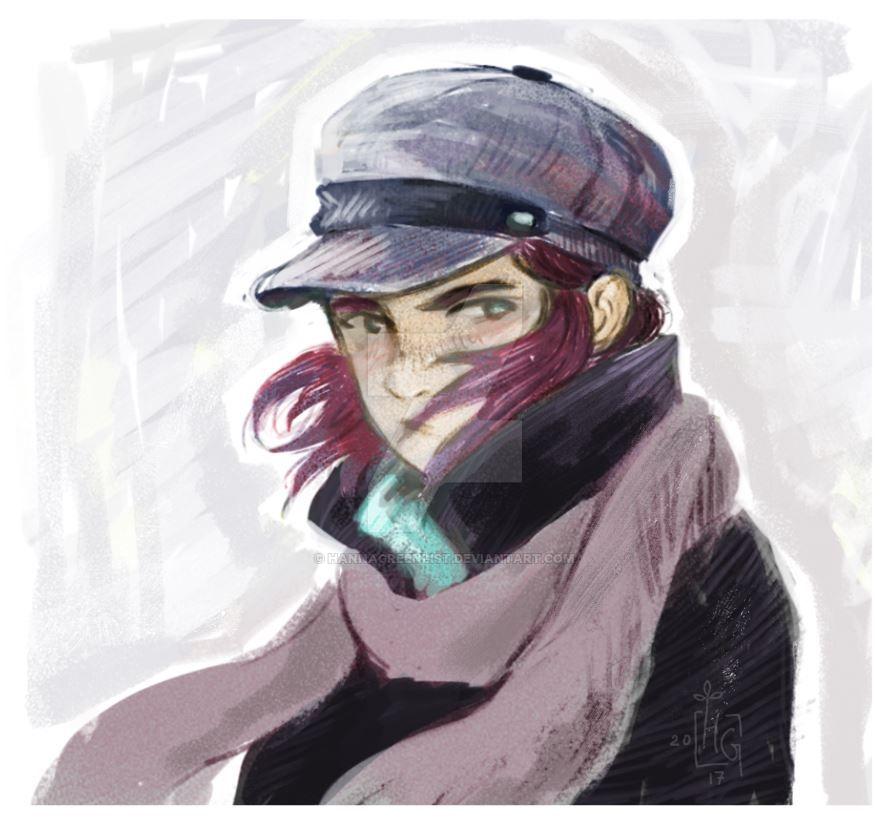 Quick portrait by HannaGreenList