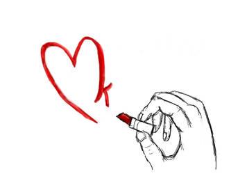 Lipstick Heart by Shaun-shau