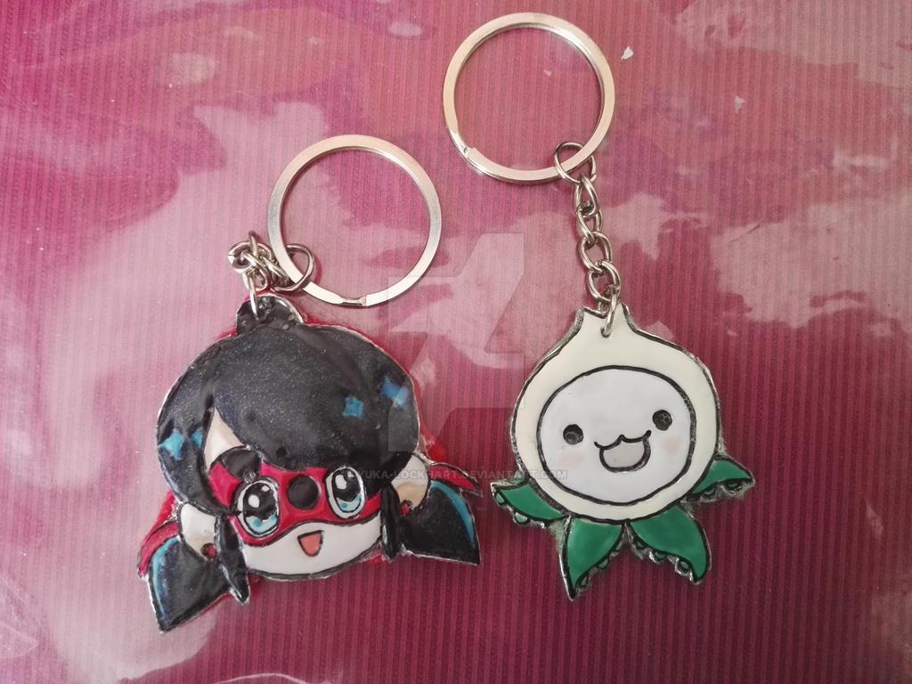 Pachimary and Ladybug keychain by Yuka-Lockhart