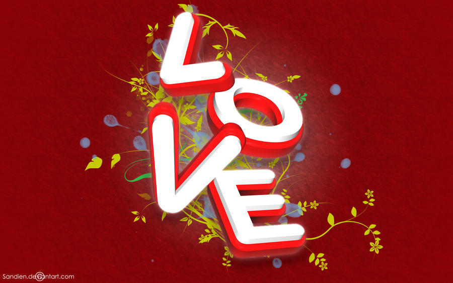 love wallpapers for facebook. 3D Love Wallpaper by Sandien