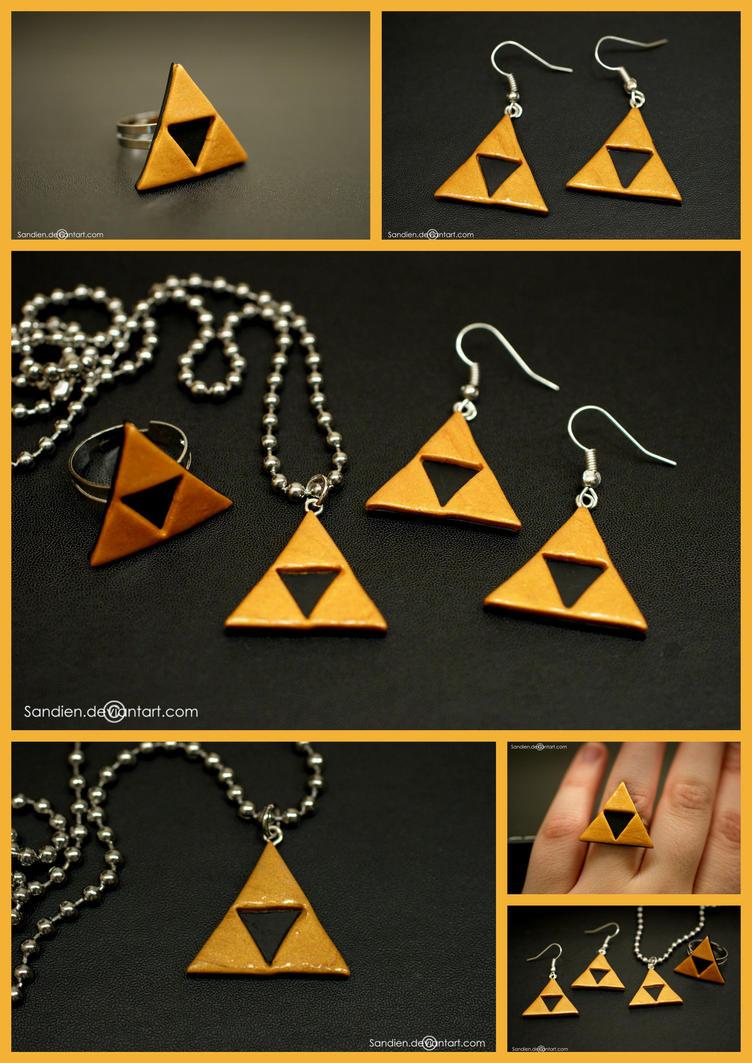 Zelda Triforce Jewelry Set by Sandien