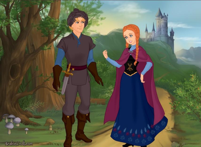 Kristoff and Anna from Frozen by abehs on DeviantArt