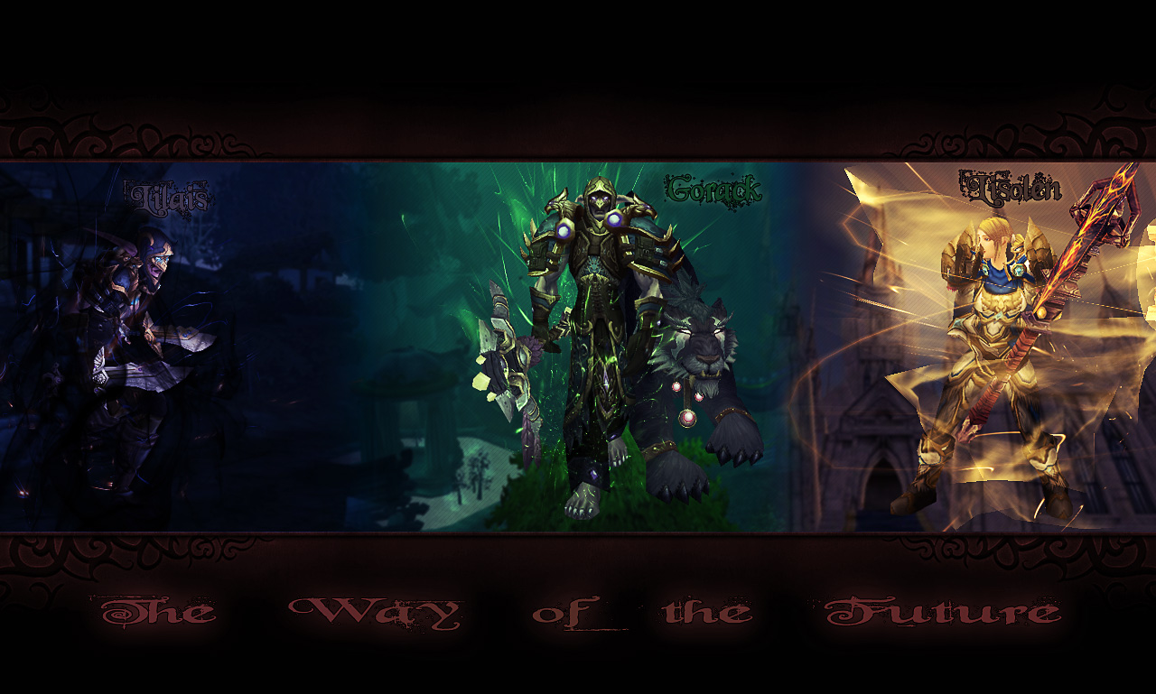 WoW Wallpaper Rogue Druid Pala by Cazylein on DeviantArt