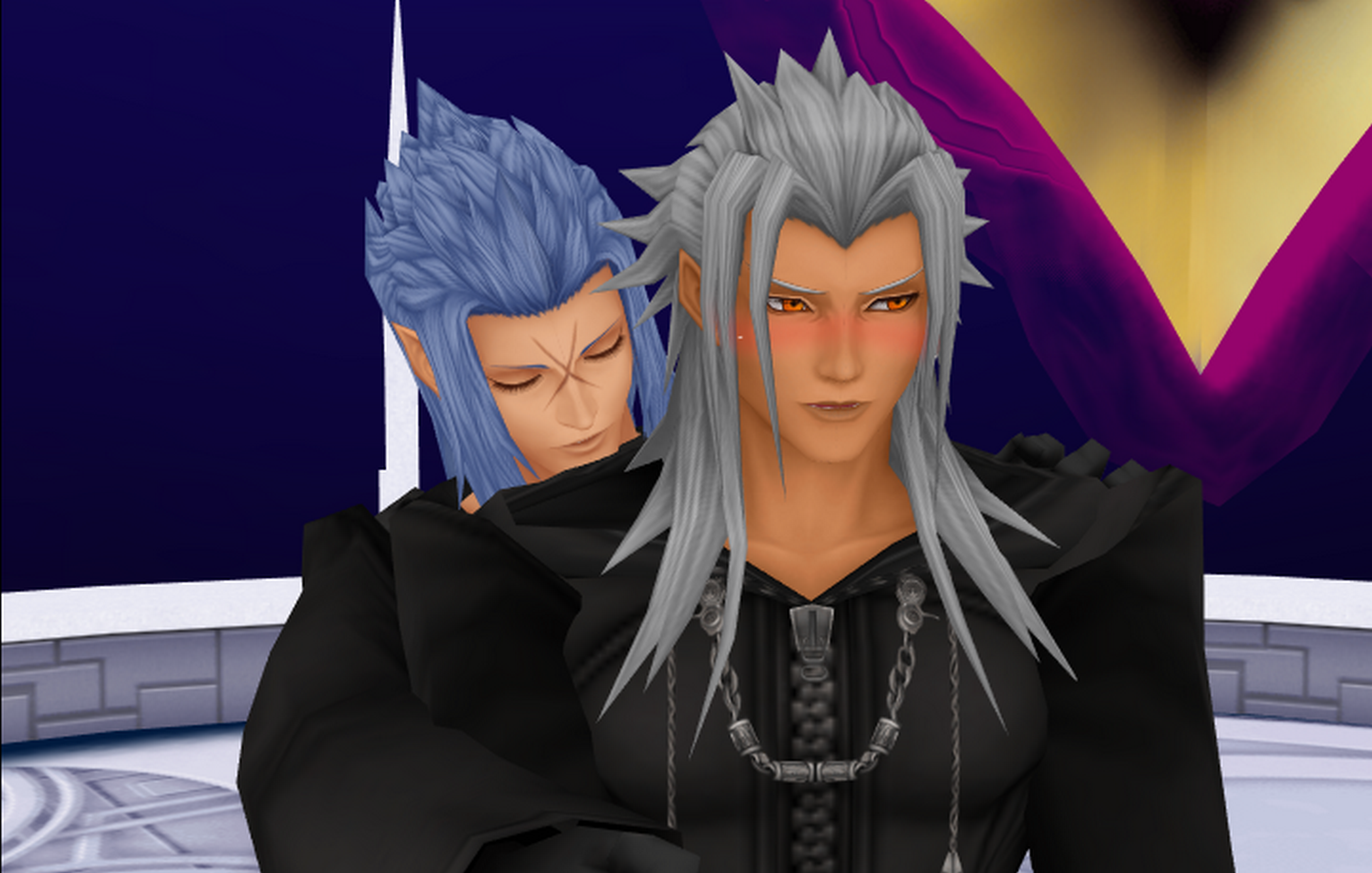mmd xemnas and saixyaoi by baskervillelacie28 on deviantart