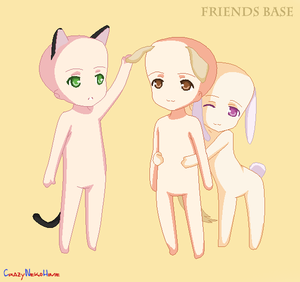 Friends :BASE: by milky-pixels on DeviantArt