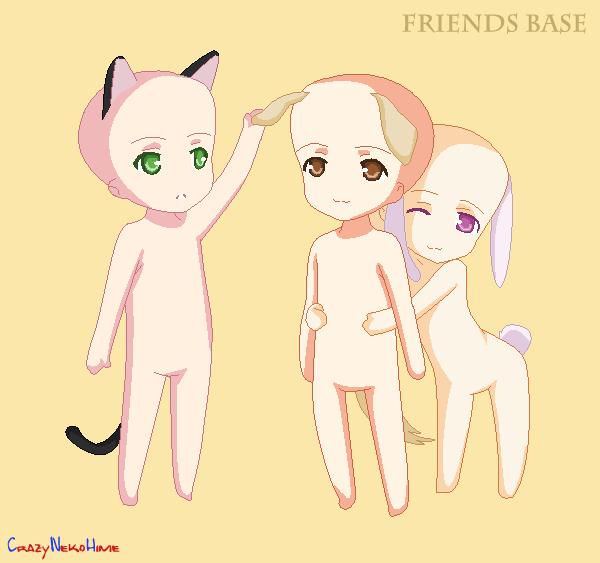 Friends :BASE: by milky-pixels on DeviantArt