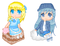Airanella and Amaya by Mitski-tan