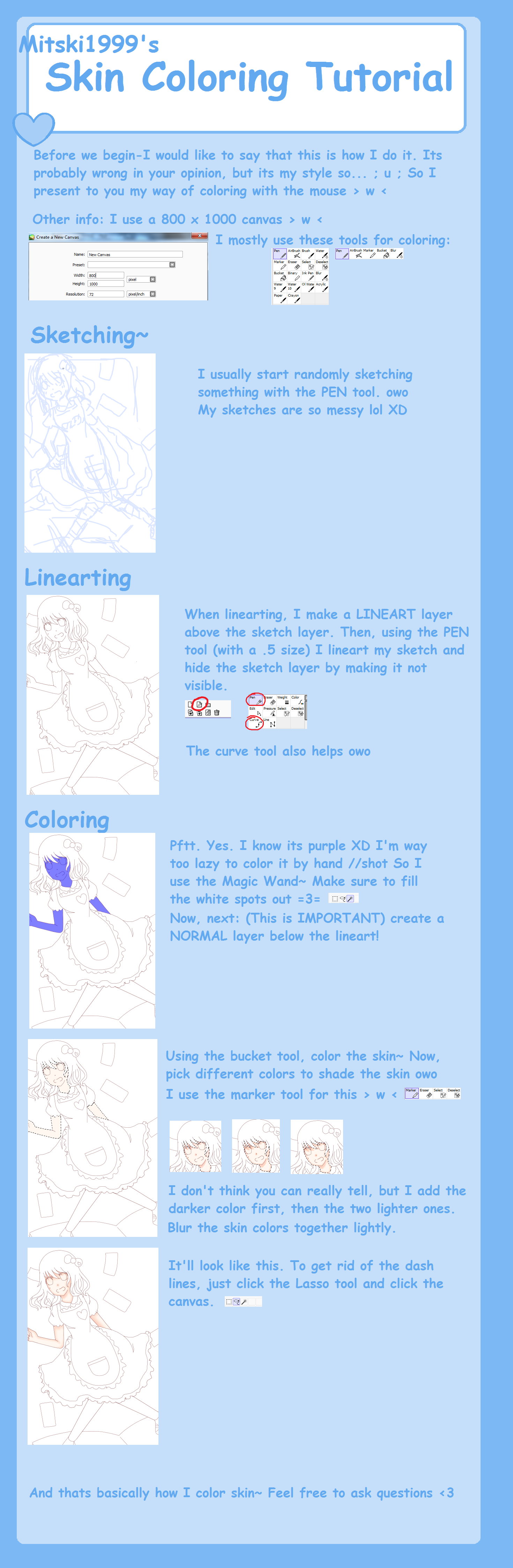 Coloring skin tutorial (Mouse) by Mitski-tan