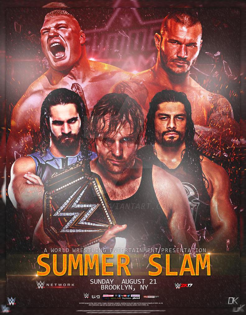summer slam 2016 poster by dkanen on deviantart