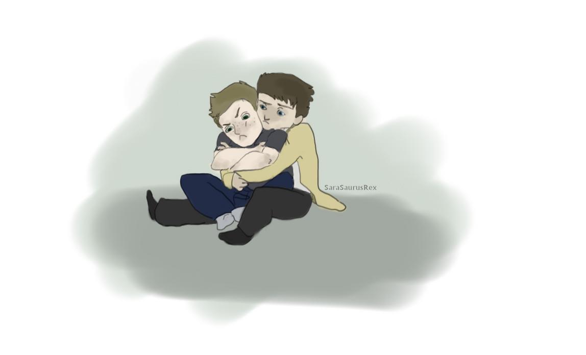 Destiel hugs by Sarasaurussex