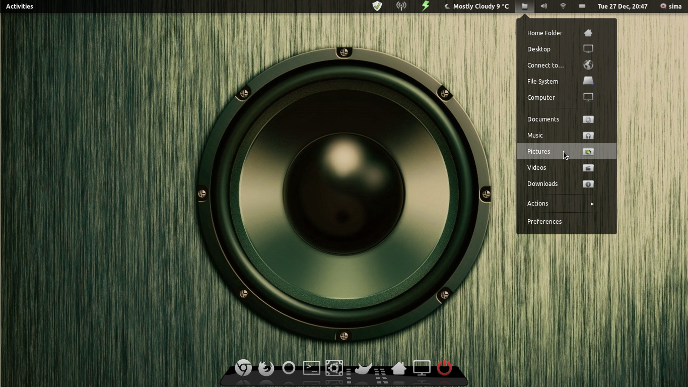 Linux Mint 12 gnome shell by miguelsanchez666