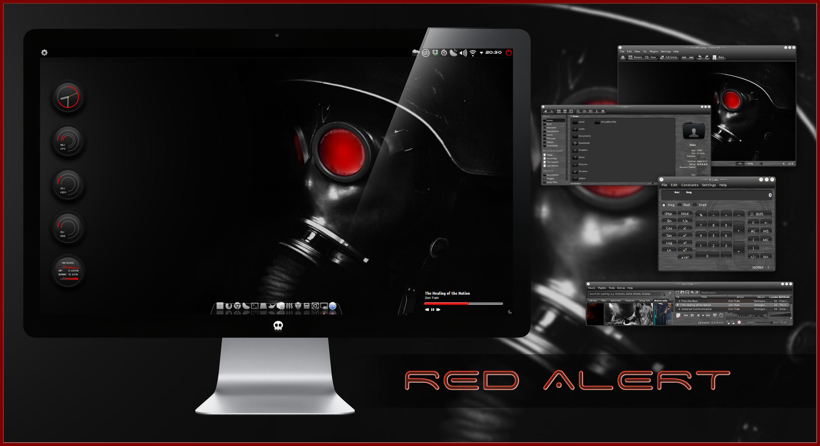 Red Alert KDE by miguelsanchez666