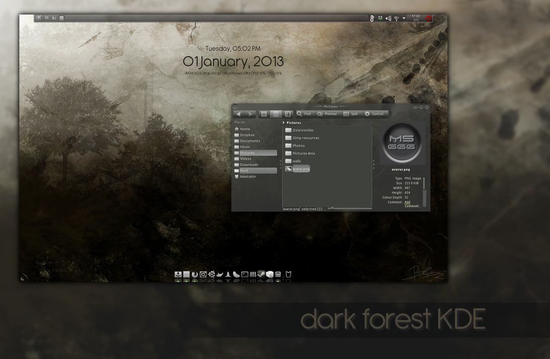 Dark Forest KDE by miguelsanchez666