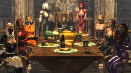 Family Dinner by skygaggedrim
