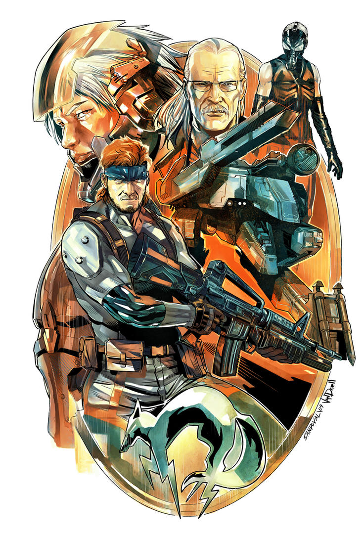 Metal Gear Solid Color by SergioSandoval