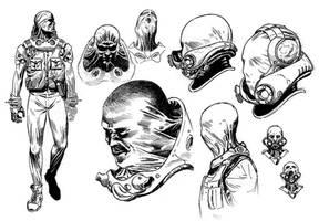Hellboy 2 Original concept art by SergioSandoval