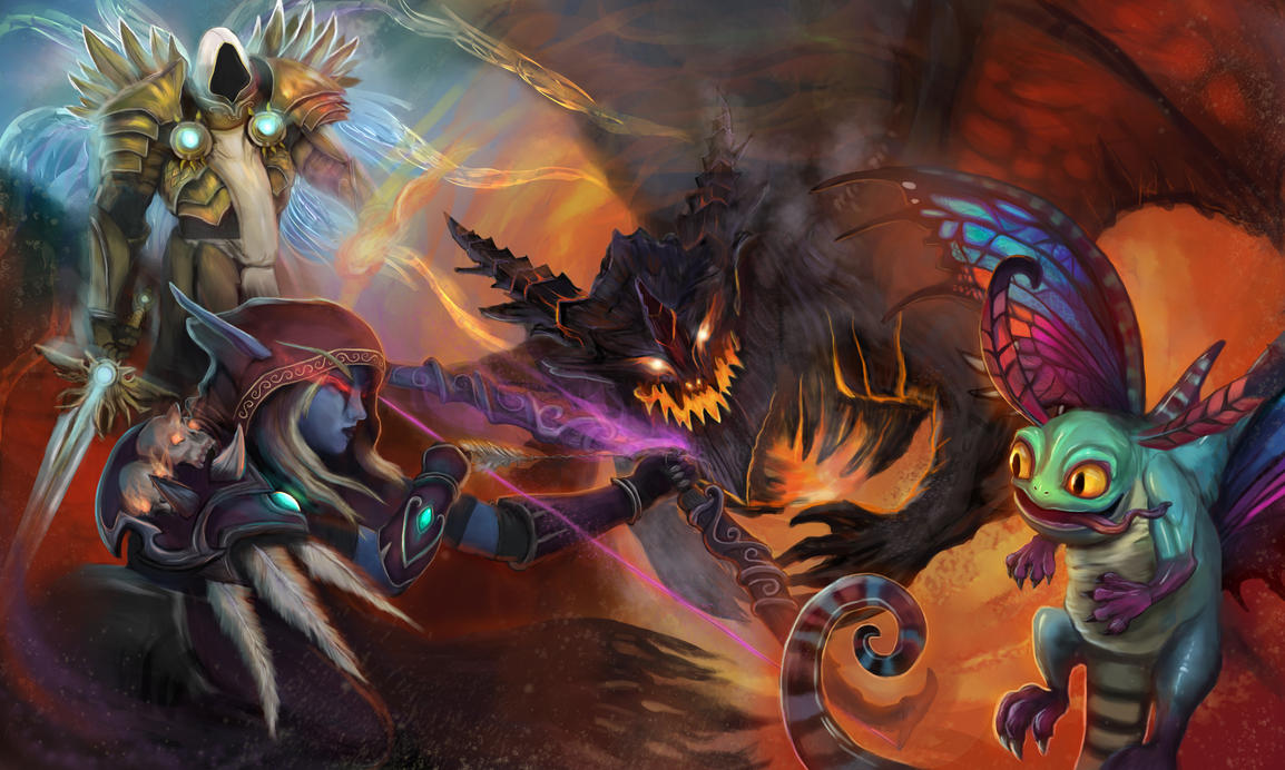 Deathwing Boss Battle by Cinder-Cat