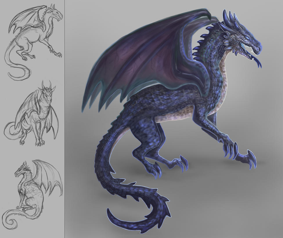 Mountain Dragon Design by Cinder-Cat
