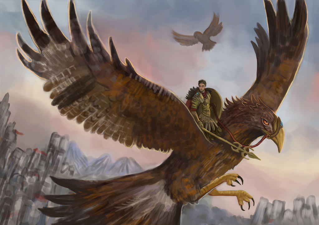 Hawk Rider by Cinder-Cat