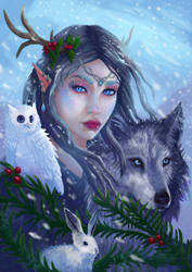 Winter Goddess by Cinder-Cat