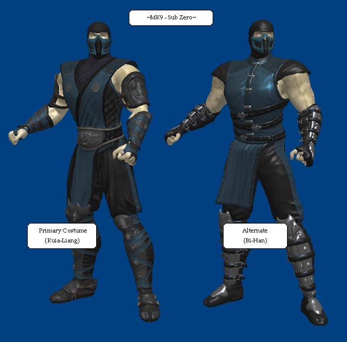 MK9: Sub-Zero (Primary and Alternate, Remxied) by KoDraCan ...