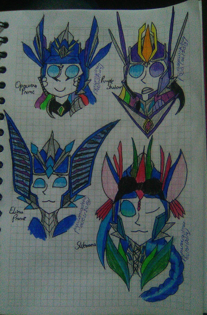 Some of my OCS by pyrusdragolnoid