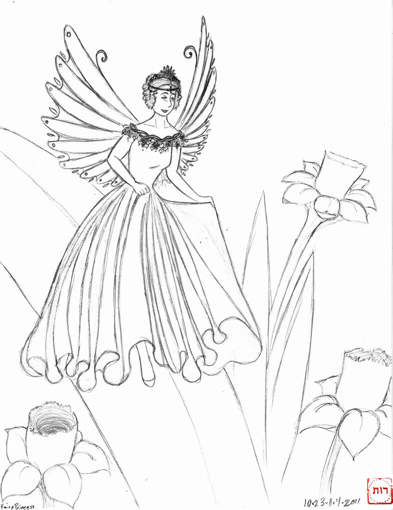 coloring pages fairy princess - photo#21