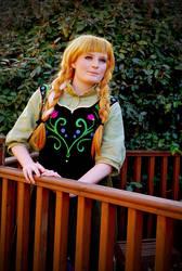 Disney Frozen: Anna in Spring by GoldenMochi