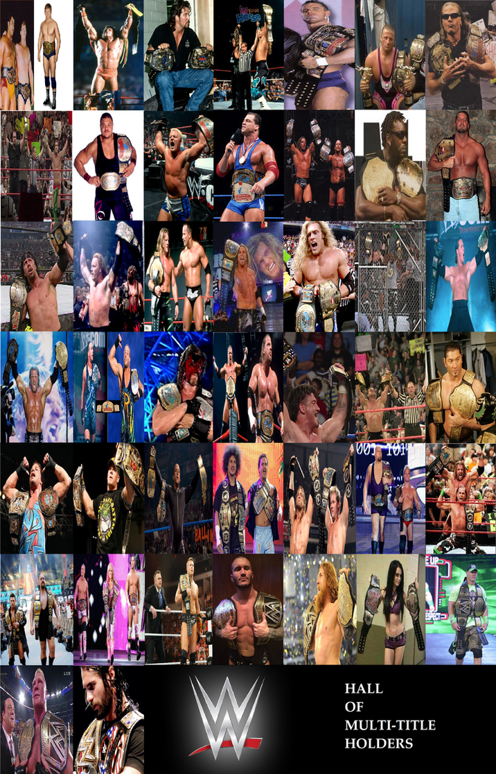 WWE Multi-Title Holders by Sychowalker