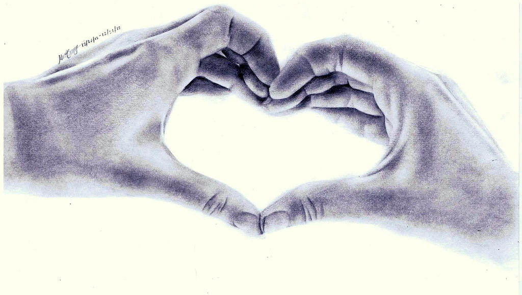 The Gallery For Gt Pencil Drawing Of Hands Making A Heart