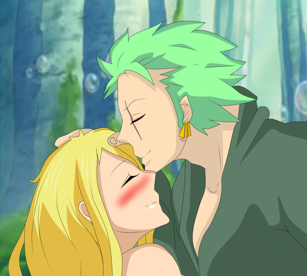 Zoro kiss Stella after two years (One Piece oc) by ...