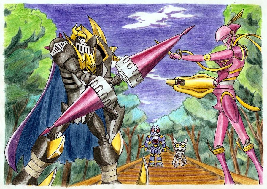 DarkKnightmon vs. LordKnightmon by Anton-Dragonpride on deviantART