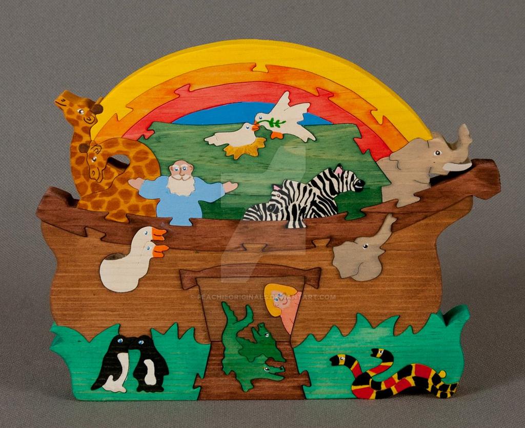 Noahs Ark Art Puzzle By PeachieOriginals On DeviantArt