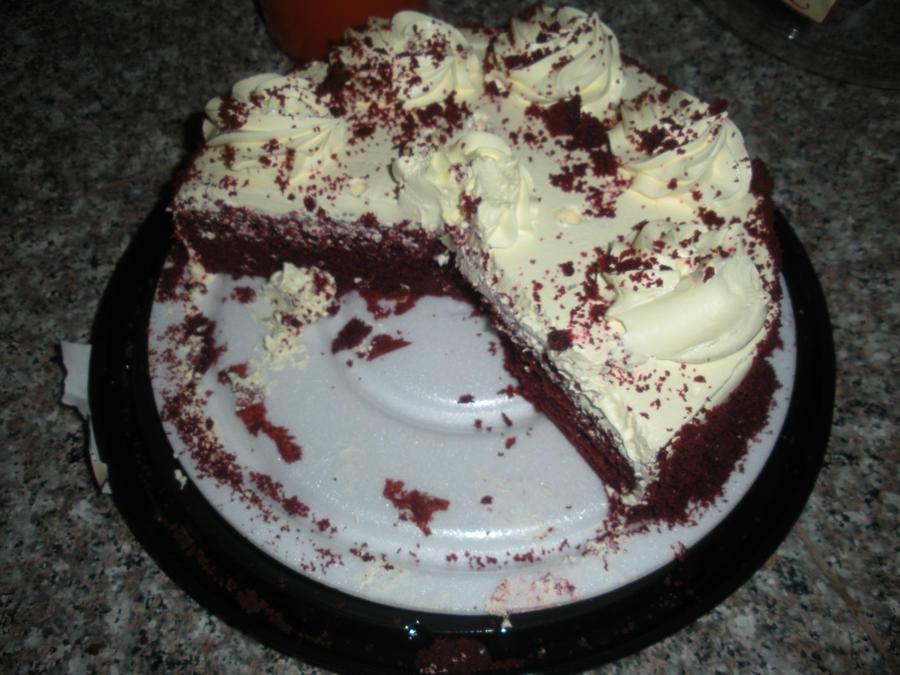 Birthday Half Eaten Cake