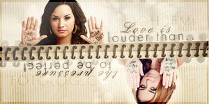 Love is louder than...