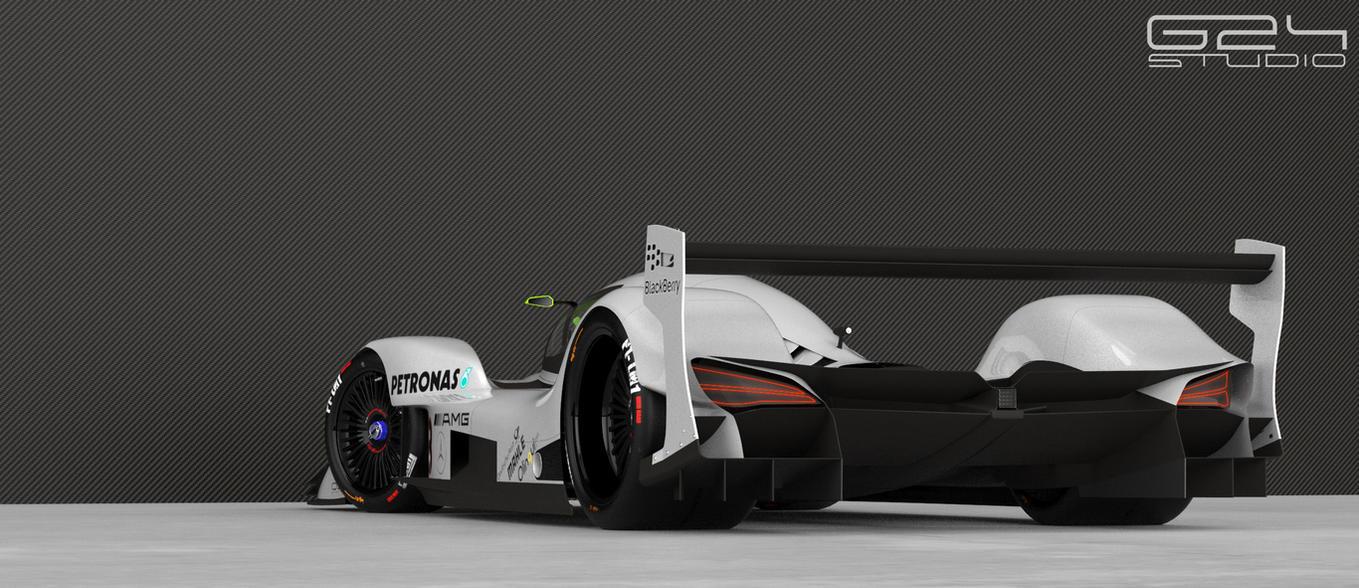 Mercedes lmr1 rear by KarayaOne