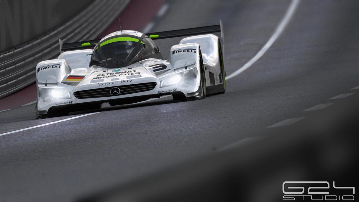 Mercedes lmr1 down the straight by KarayaOne