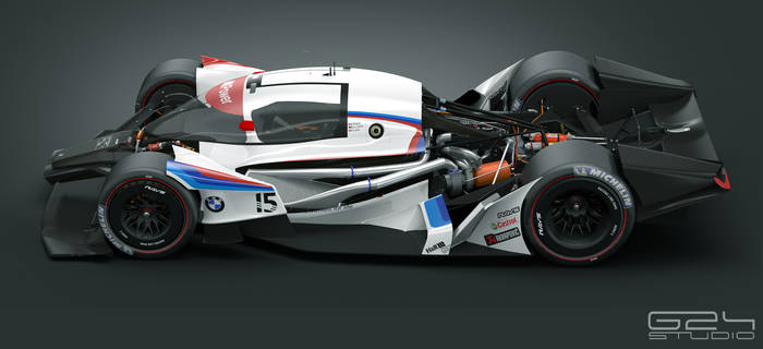 BMW MR1 panels removed