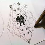 SeeU ink sketch by c-h-a-i-k-a