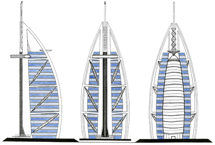 Burj al arab hotel dubai by seiyanopegasus on deviantart for Burj khalifa sketch