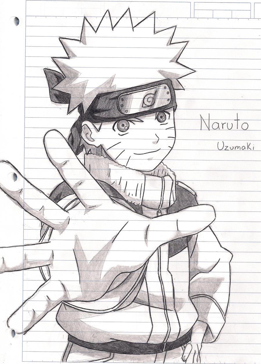 Naruto uzumaki by MariChanX3 on DeviantArt  Naruto Drawings In Pencil Easy