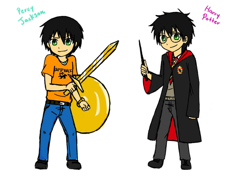 Percy jackson and harry potter chibi by marichanx3 on deviantart percy jackson and harry potter chibi by marichanx3 voltagebd Image collections