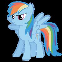 Rainbow dash vector by sashabunnybutt