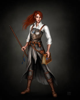 Cleric of Mystra - Commission