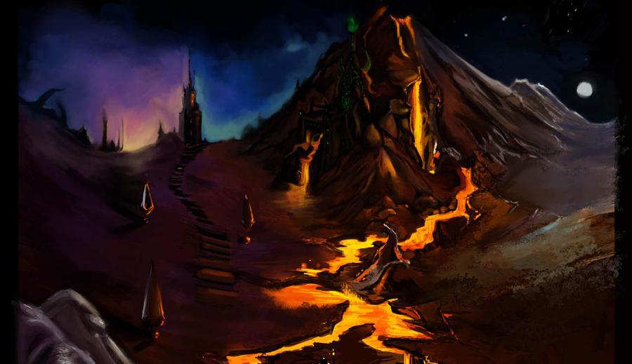 lava landscape by nikkhia on deviantart. Black Bedroom Furniture Sets. Home Design Ideas
