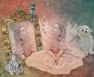 Princess Alyssa and Mr Frog by xeena-dragonkizz