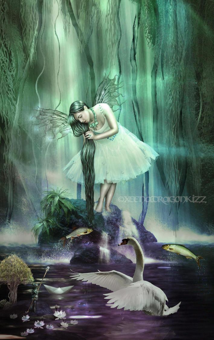 Water Fae for Shelley by xeena-dragonkizz