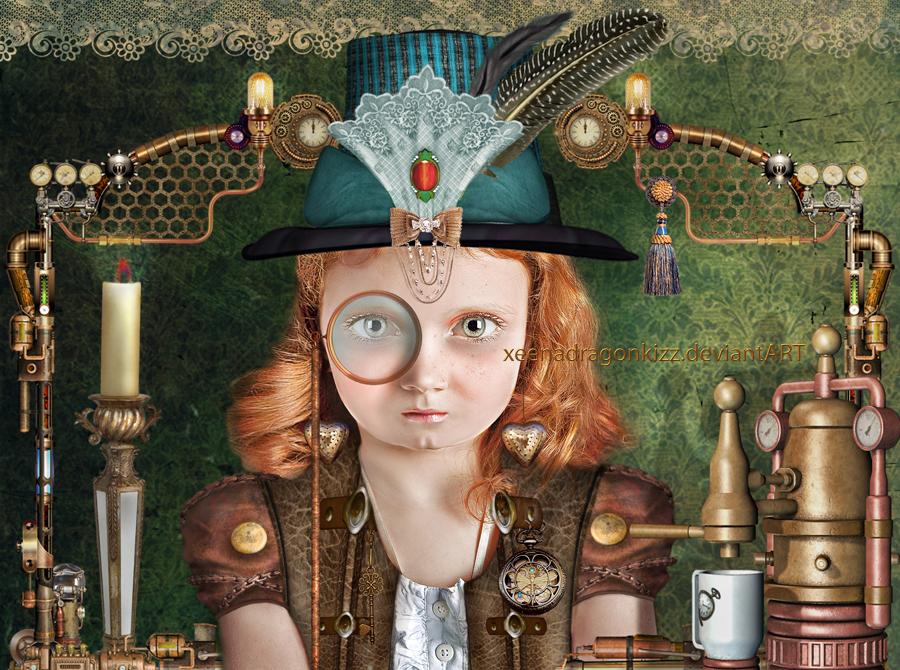 Steampunk Girl Betty by xeena-dragonkizz