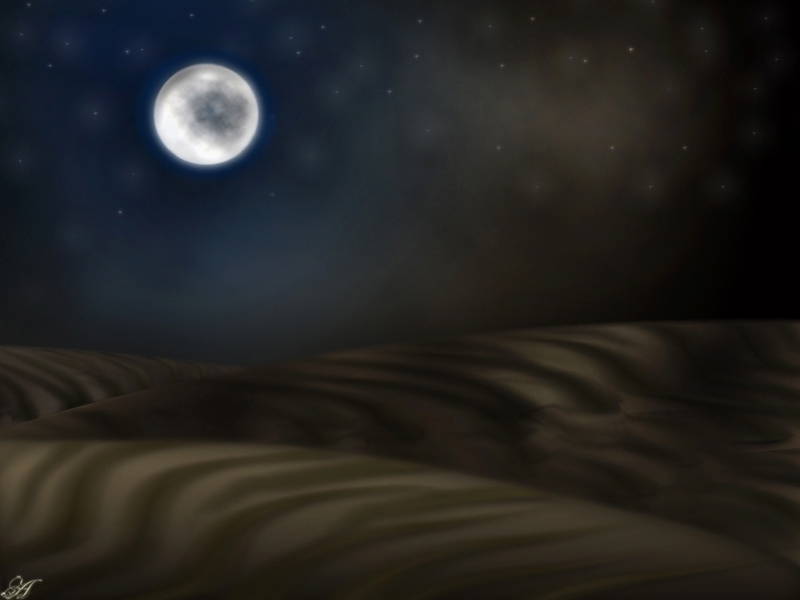 • Desierto • Desert_at_night_by_witch_art-d3dipzm